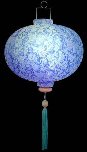 Silk Lanterns Wealth Lantern Sky Blue