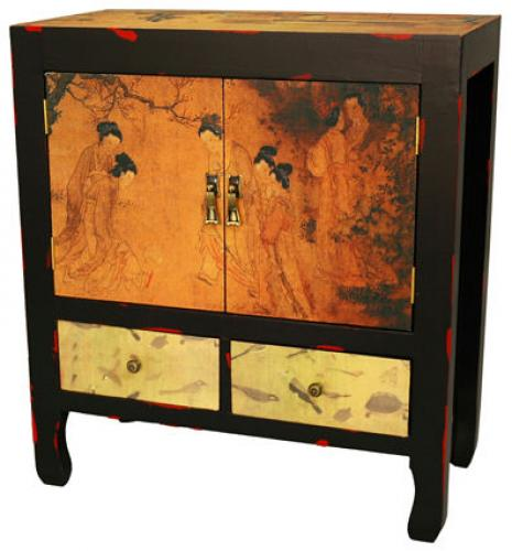 Asian Style Furniture Angels In The Garden End Table