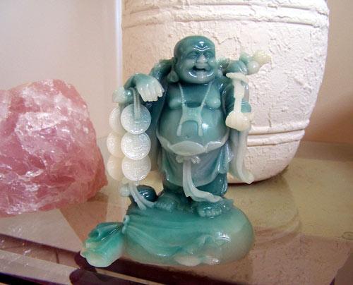 Buddhist Statues Lucky Money Buddha Jade Color