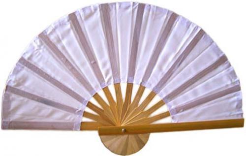 Asian Hand Fans White Bamboo Hand Fan