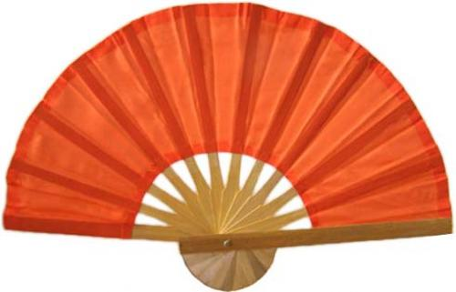 Asian Hand Fans Orange Bamboo Hand Fan