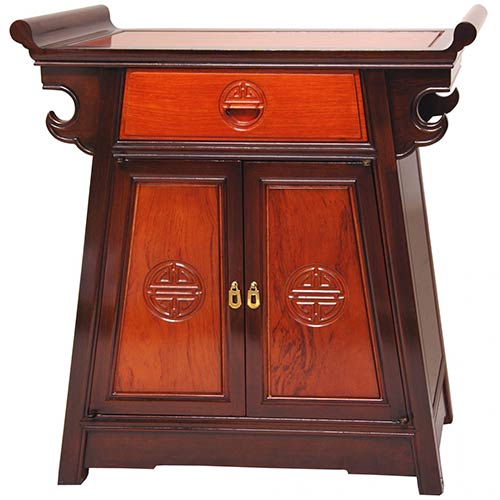 Asian Style Furniture Rosewood Altar Cabinet Two Tone