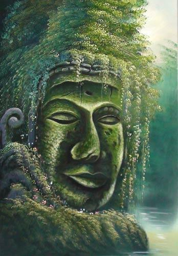 Oriental Paintings Jungle Buddha