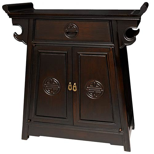 Asian Style Furniture Rosewood Altar Cabinet