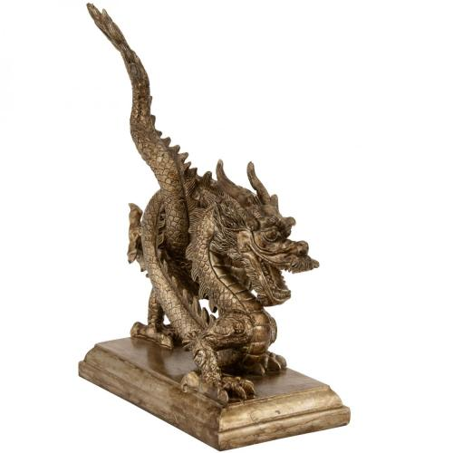 Resin Statues Ancient Chinese Dragon