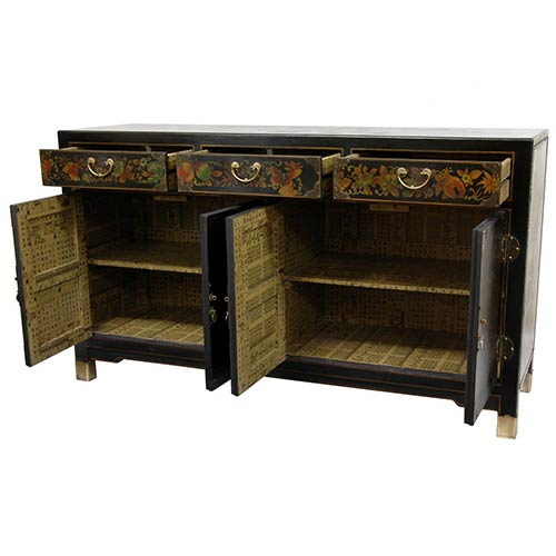 asian style furniture black lacquer large buffet table asian style furniture