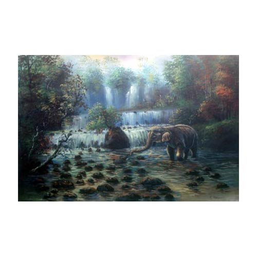Elephant of the Orient :: Acrylic Landscape Paintings