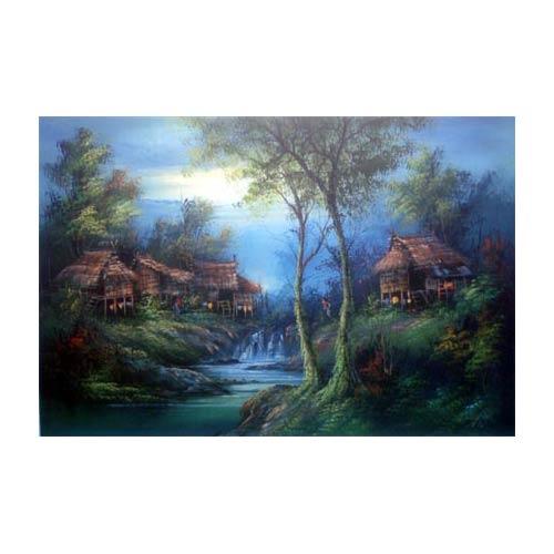 River Village :: Oriental Paintings