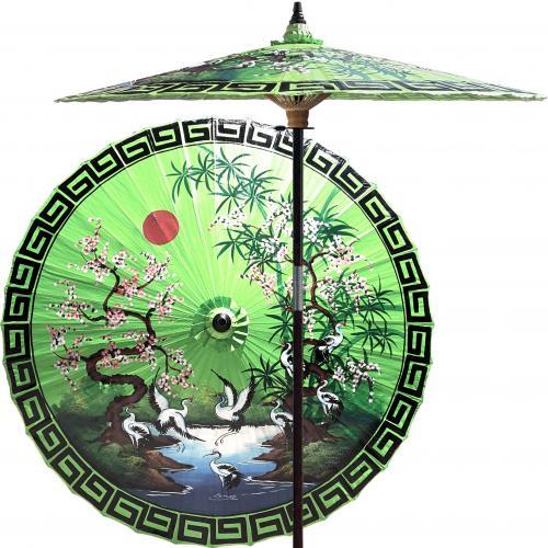 Asian Spring (Meadow Green) :: Outdoor Patio Umbrellas
