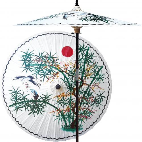 Asian Splendor (Beijing White) :: Outdoor Patio Umbrellas