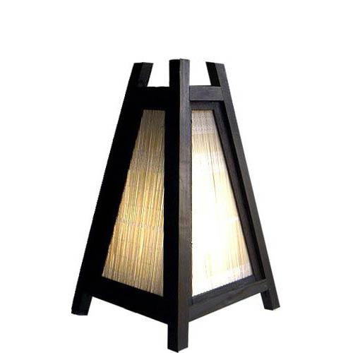 """10.5"""" Wicker Pyramid :: Decorative Lamps"""