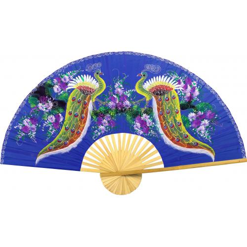 Proud Peacocks :: Chinese Wall Fans
