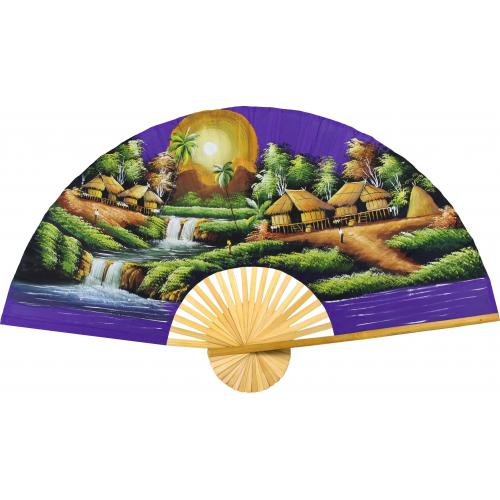 Purple Moon :: Oriental Wall Fans