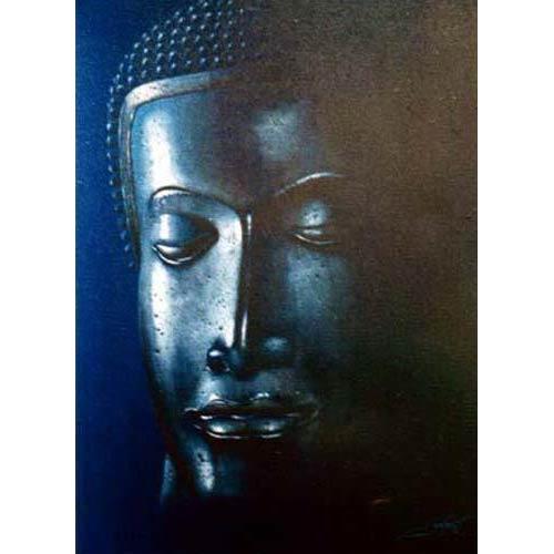 Nocturnal Buddha :: Buddha Paintings