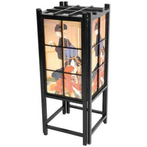 Japanese Geisha Lamp (Black Finish)