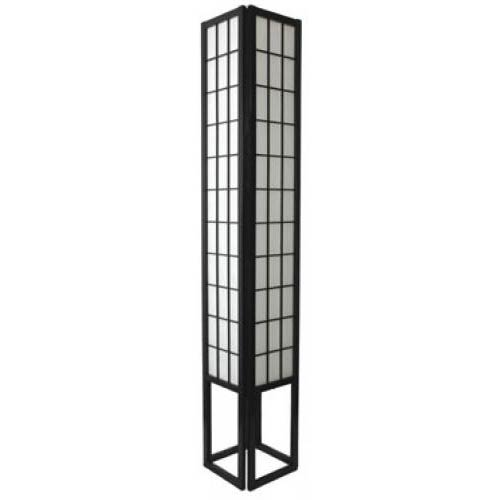 6 Foot Japanese Tower Lamp (Black Finish)
