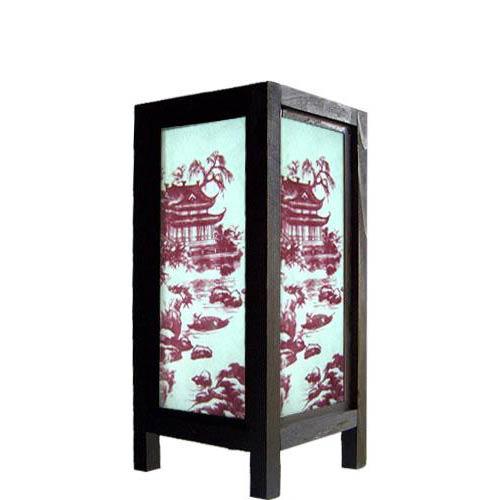 "11"" Asian Pagoda Lamp"