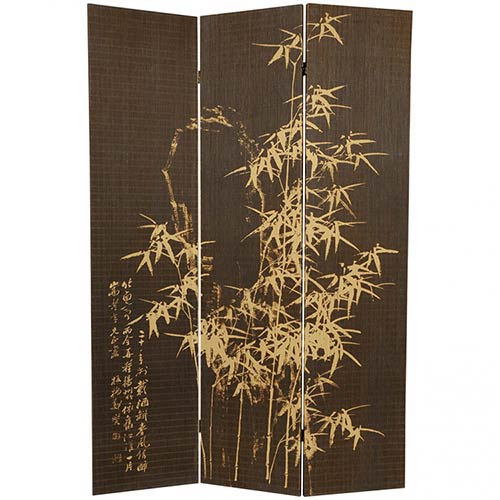 Frameless Natural Bamboo Design Screen
