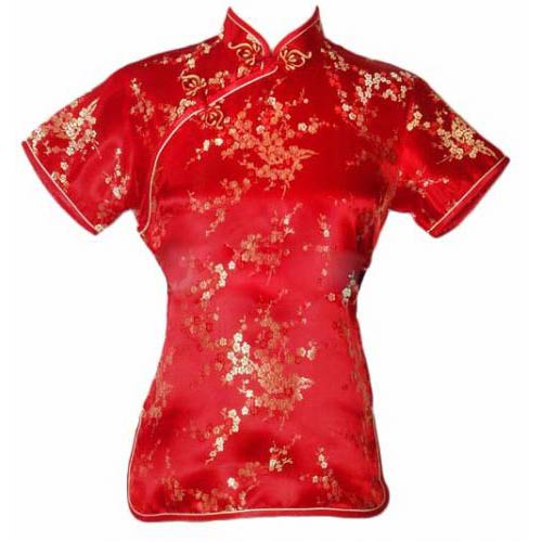 Red Cherry Blossom Blouse