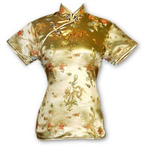 Gold Dragon Blouse: : Chinese Blouses