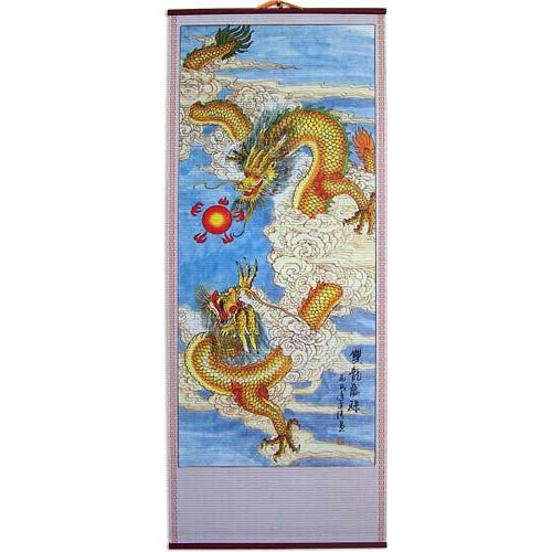 Knotted Dragons Chinese Scroll