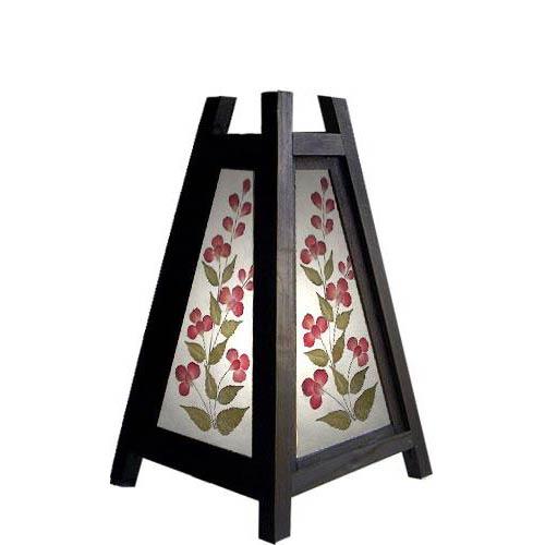 "10.5"" Triangular Cut Flower Lamp"
