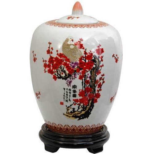 """11"""" Cherry Blossom Porcelain Vase Jar"""