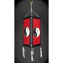 Red Yin Yang Lantern