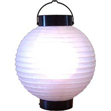 8 inch Glowing White Lantern