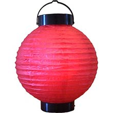 8 inch Red Glowing Lantern
