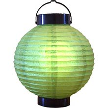 8 inch Meadow Green Glowing Lantern