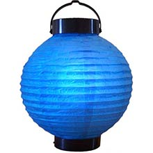 8 inch Blue Glowing Lantern
