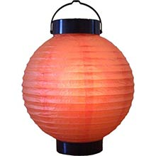 8 inch Orange Glowing Lantern
