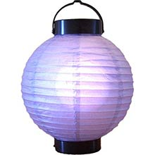 8 inch Purple Glowing Lantern