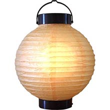 8 inch Peach Glowing Lantern