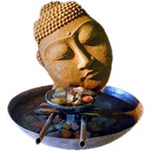 14 inch Copper Bowl Buddha Head Fountain