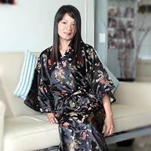 Black Dragon Kimono Robe