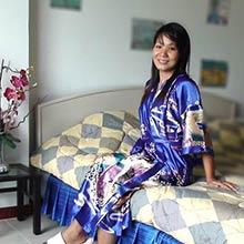 Blue Geisha Kimono Robe