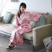 Pink Dragon Kimono Robe