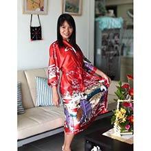 Red Geisha Kimono Robe