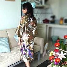 Gold Geisha Kimono Robe