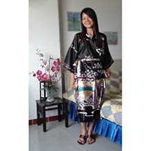 Black Geisha Kimono Robe