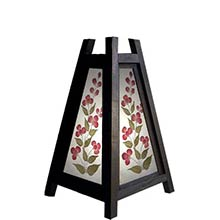 10.5 inch Triangular Cut Flower Lamp