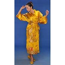Gold Flowing Dragon Kimono Robe