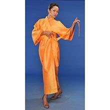 Tangerine Japanese Kimono Robe