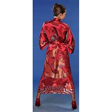 Red Flowing Dragon Kimono Robe
