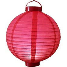 12 inch Glowing Red Lantern