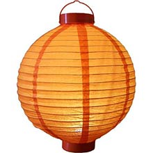 12 inch Glowing Orange Lantern