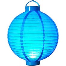 12 inch Glowing Blue Lantern