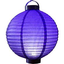 12 inch Glowing Purple Lantern